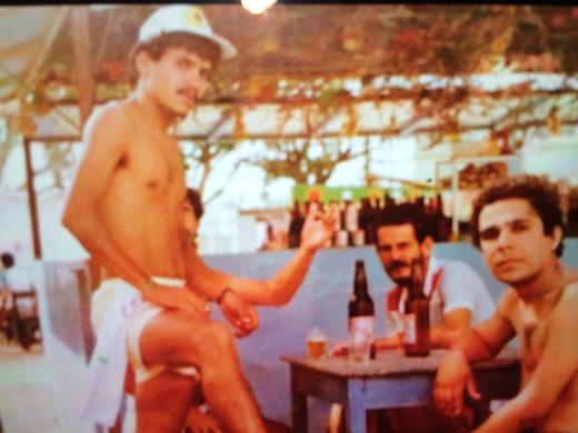 O TEMPO VOA - Gilberto Damasio, Capiba e Fernando - Anos 80 - Acervo pessoal de Gilberto Damasio
