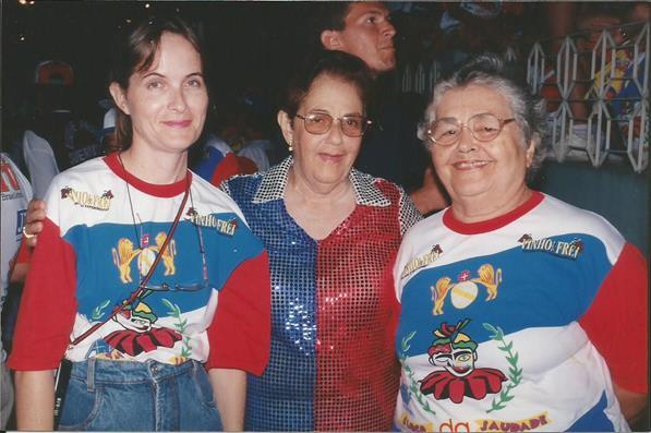 SEDE - Ana Gerusa, D. Anita e D. Eunice Xavier - Bloco da Saudade - Carnaval 1999