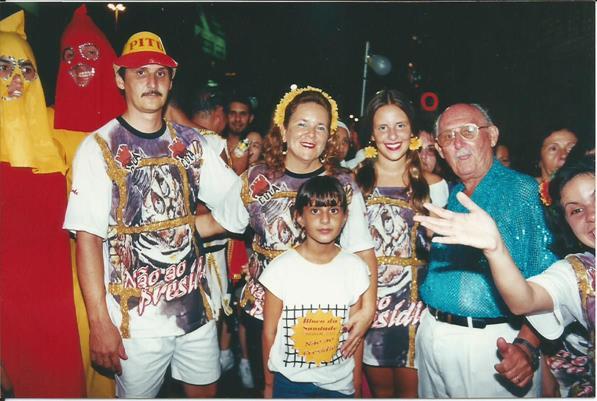 SEDE - Toco, Silvana, Daniele, Suelen e Zito Mariano - CArnaval de 2000