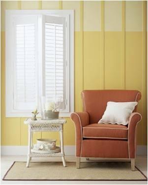 cortinas marrom e amarelo