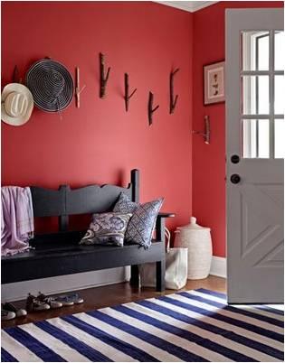 Cores e seu bom uso na decora o vermelho roxo e lil s blog do pilako - Peindre un mur en rouge ...